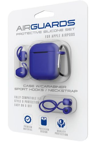 AirGuards Protective Silicone Case Set for Apple AirPods