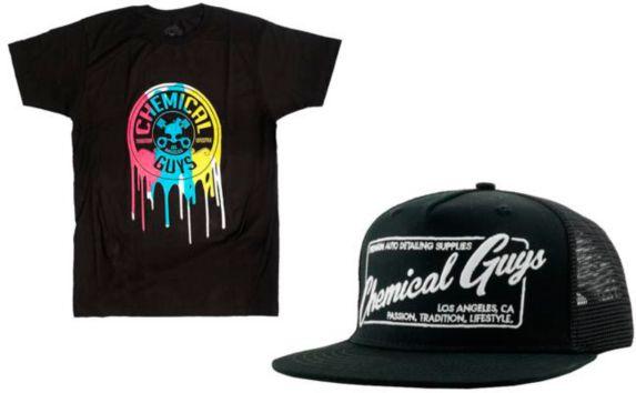 Ensemble t-shirt et chapeau Chemical Guys, grand