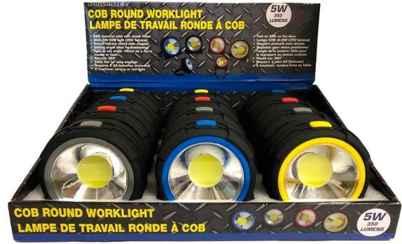 Lampe de travail ronde COB