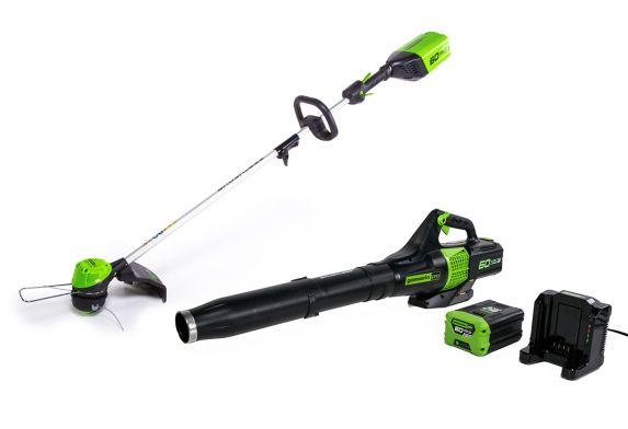 Greenworks 60V Cordless Trimmer & Leaf Blower Combo Product image