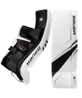 Bauer Supreme S27 Hockey Goalie Pads Junior White Canadian Tire