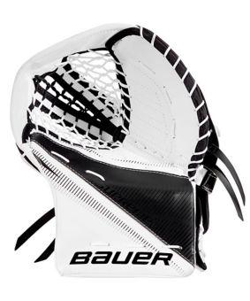 Bauer Supreme S27 Hockey Goalie Catcher Glove, Junior, White