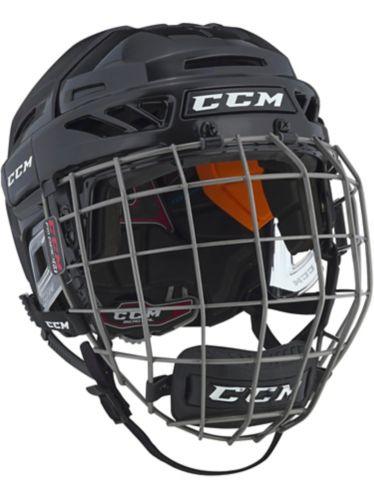 CCM FitLite 90 Hockey Helmet Combo, Red