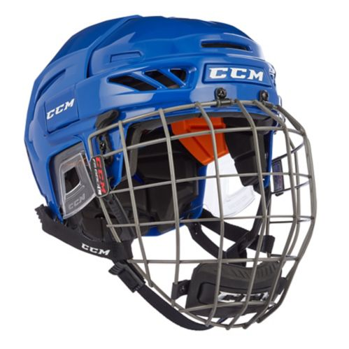 CCM FitLite 90 Hockey Helmet Combo, Royal Blue