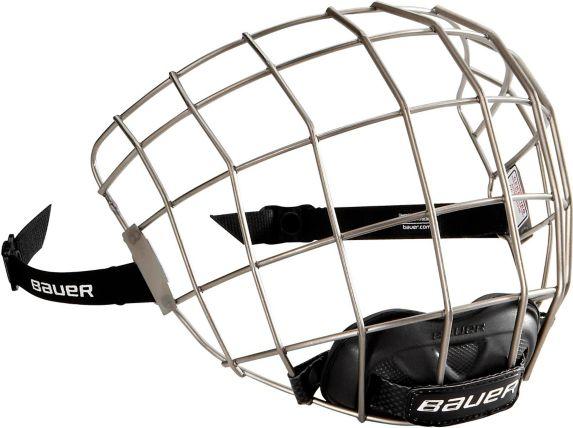 Bauer RE-AKT Titanium Hockey Helmet Facemask, Silver