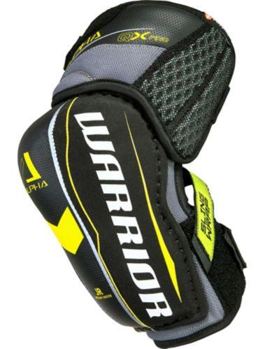 Warrior QX Pro Hockey Elbow Pads, Junior, Black/Yellow