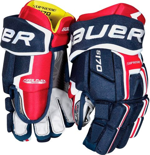 Bauer Supreme S170 Hockey Gloves, Junior, 11-in