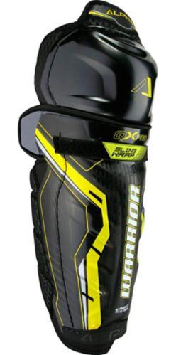 Jambières de hockey Warrior QX Pro, sénior, noir et jaune