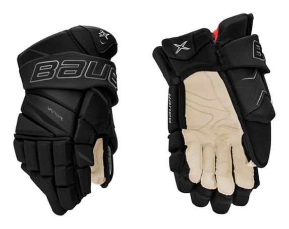 Bauer Vapor 2X Hockey Gloves, Junior, Black