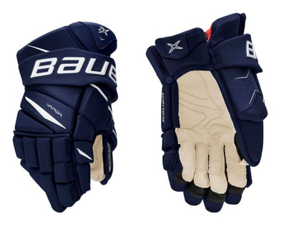 Bauer Vapor 2X Hockey Gloves, Junior, Navy