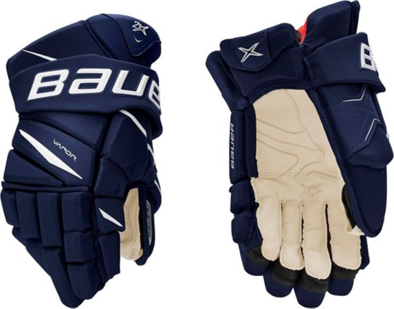 Bauer Vapor 2X Hockey Gloves, Senior, Navy