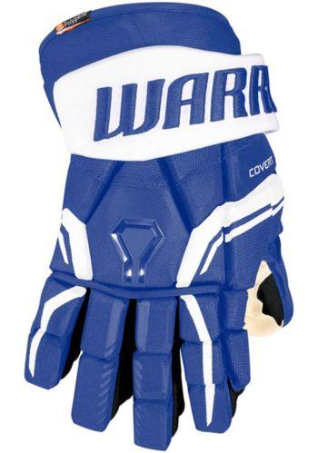 Gants de hockey Warrior QREPro2, junior, bleu royal/blanc