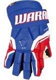 Gants de hockey Warrior QRE Pro2, junior, bleu royal/rouge | Warriornull