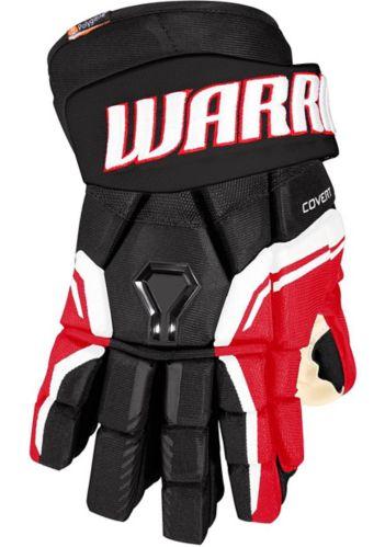 Warrior QRE Pro 2 Hockey Gloves, Senior, Black/Red
