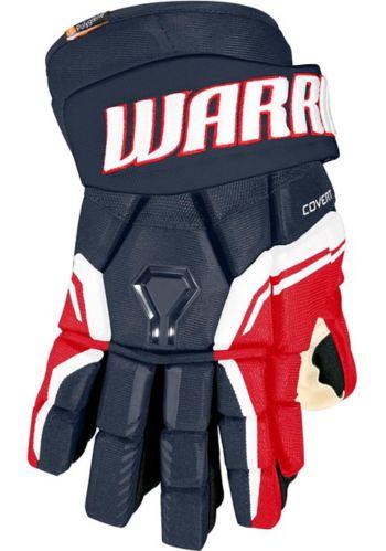 Gants de hockey Warrior QRE Pro2, sénior, bleu marine/rouge/blanc