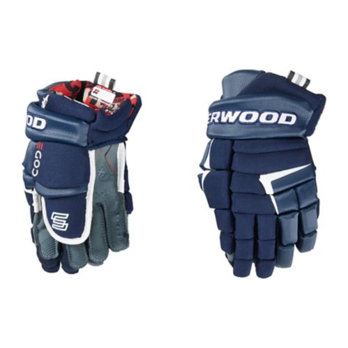 Sher-Wood Code 5 Hockey Gloves, Junior, Navy