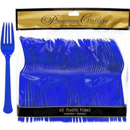 Fourchettes en plastique doré, paq. 48