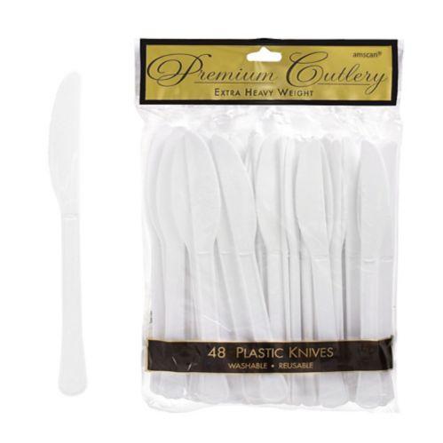 Couteaux en plastique de qualité supérieure, paq. 48