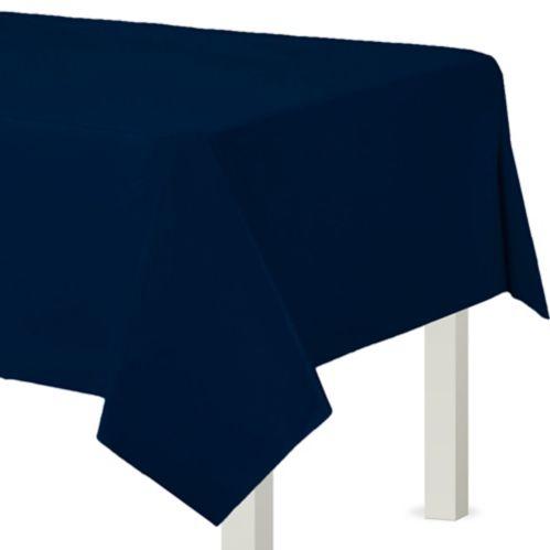 Rouleau de nappe en plastique, bleu marine, 54 po x 108 pi Image de l'article