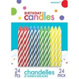 Bougies anniversaire spirale, paq. 24 | Amscannull