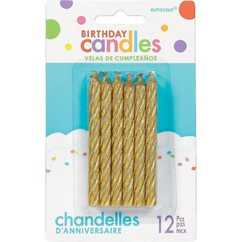 Bougies anniversaire spirale, paq. 12