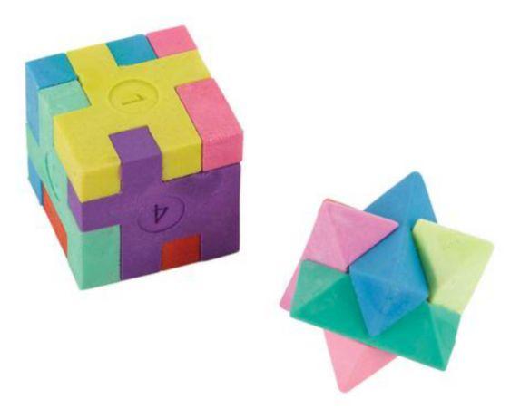 Puzzle Erasers, 12-pk