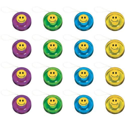 Smiley Yo-Yos, 16-pk