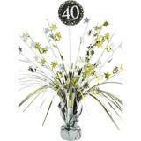 Centre de table fontaine Célébration 40eanniversaire scintillant | Amscannull