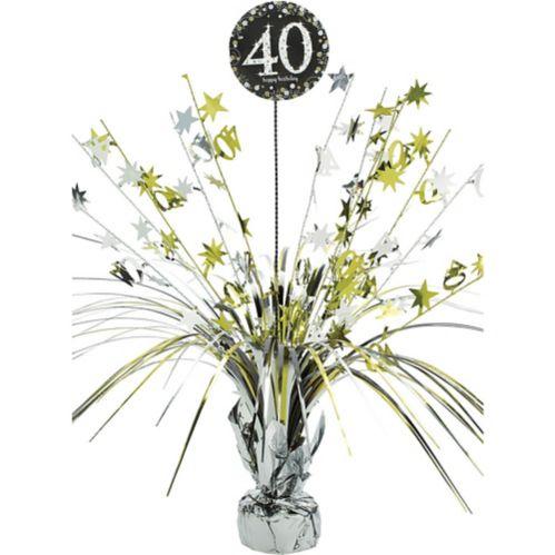 Centre de table fontaine Célébration 40eanniversaire scintillant Image de l'article