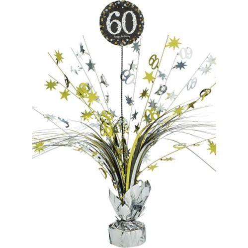 Sparkling Celebration 60th Birthday Spray Centerpiece