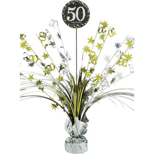 Sparkling Celebration 50th Birthday Spray Centerpiece
