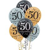 Sparkling Celebration 50th Birthday Balloons, 15-pc | Amscannull