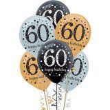 Sparkling Celebration 60th Birthday Balloons, 15-pk | Amscannull