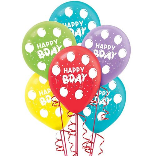 Birthday Celebration Balloons, 72-pk