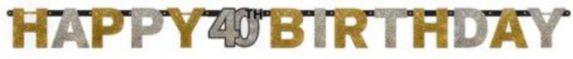 Banderole 40eanniversaire prismat célébration étincelante