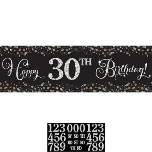 Sparkling Celebration Plastic Happy Birthday Banner Kit Product image