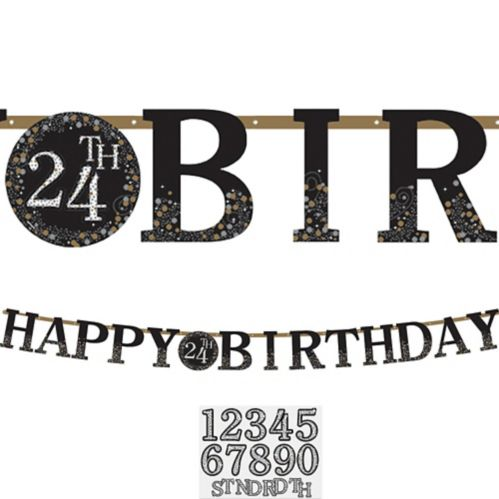 Sparkling Celebration Paper Happy Birthday Banner Kit