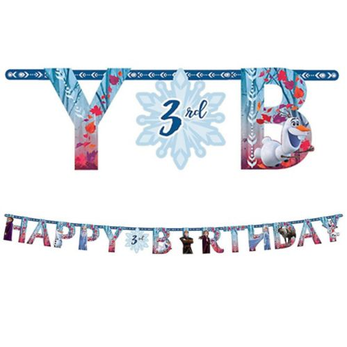 Kit de banderole anniversaire La reine des neiges 2