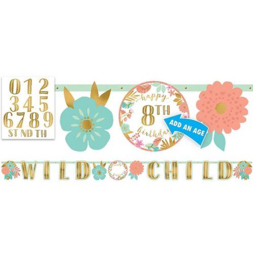 Boho Girl Birthday Banner Kit