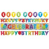 Birthday Balloon Banners, 4-pk | Amscannull
