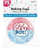 Girl or Boy Gender Reveal Baking Cups, 75-pk | Amscannull