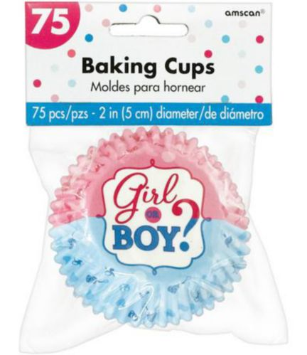 Girl or Boy Gender Reveal Baking Cups, 75-pk Product image