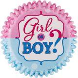 Moules à gâteau dévoilement du sexe garçon ou fille, paq. 75 | Amscannull
