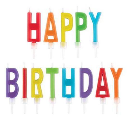 Rainbow Happy Birthday Toothpick Candle Set, 13-pk Product image