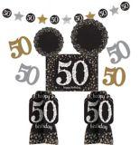 Sparkling Celebration 50th Birthday Room Decorating Kit, 10-pc
