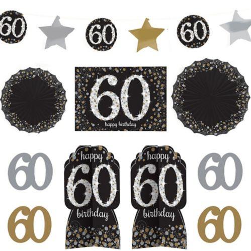 Sparkling Celebration 60th Birthday Room Decorating Kit, 10-pc Product image