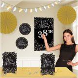 Décorations chambre d'anniversaire célébration étincelante, paq. 36 | Amscannull