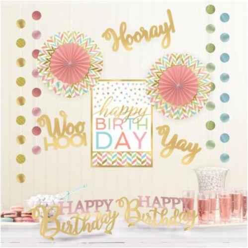 Confetti Fun Birthday Room Decorating Kit, 12-pc
