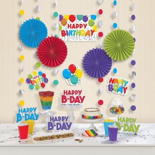 Décorations Ballons d'anniversaire, paq. 18