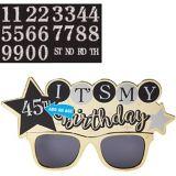 Kit lunettes de soleil anniversaire célébration étincelante | Amscannull